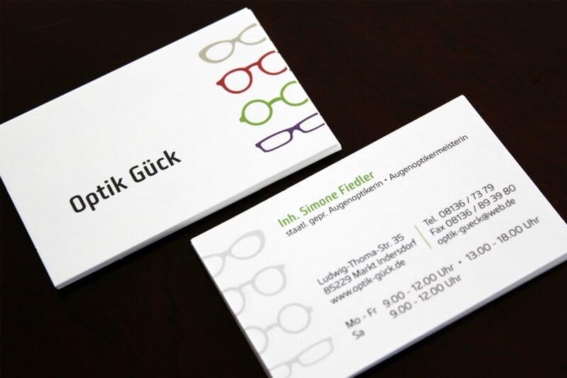 Logo- & Printdesign - Beispiel: Optik Gück