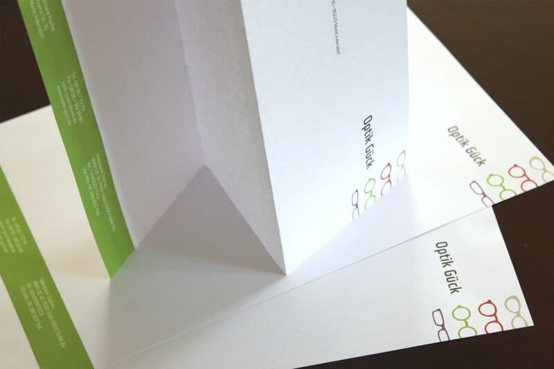 Logo- & Printdesign - Beispiel: Optik Gück II