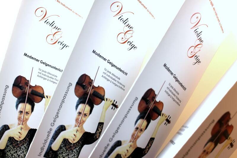 Logo- & Printdesign - Beispiel: Violine & Geige