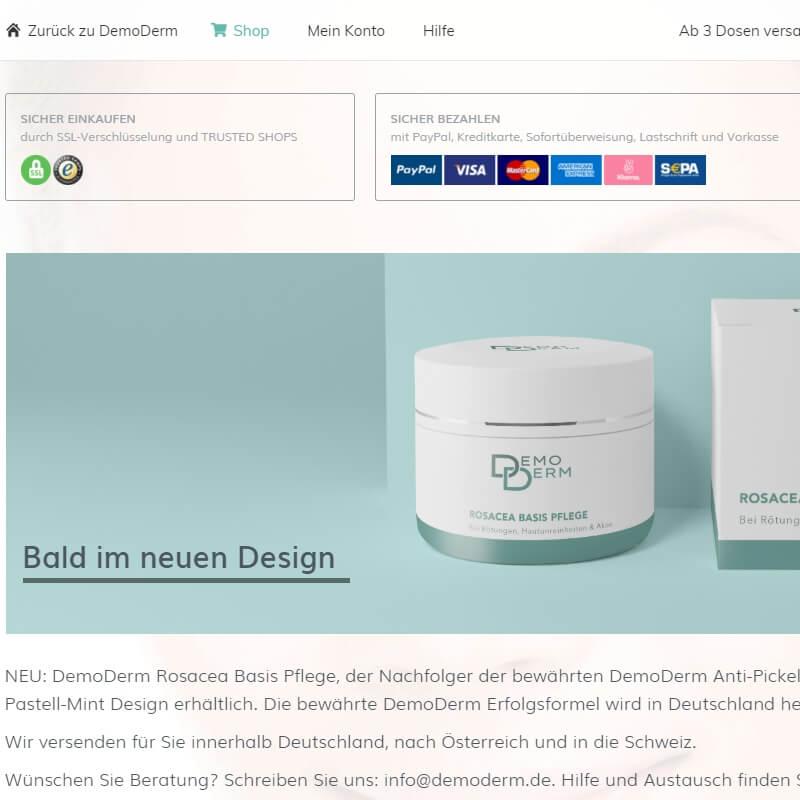 Referenz: demoderm.de/shop