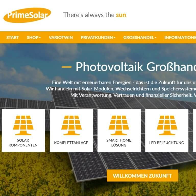 Referenz: primesolar.eu